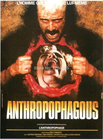ANTHROPOPHAGUS-font-b-Movie-b-font-Poster-1980-Horror-font-b-Gore-b-font-Print-Silk