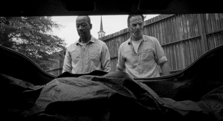 Father Son Holy Gore - The Walking Dead - Morgan and Rick and Corpse