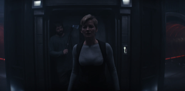 "Syfy's Nightflyers ""Icarus"" - Gretchen Mol & Angus Sampson"