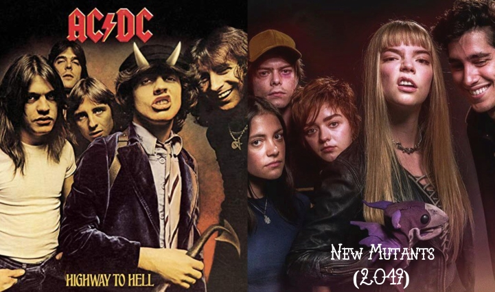 Father Son Holy Gore: ACDC's Highway to Hell Album Cover v. New Mutants (2019)