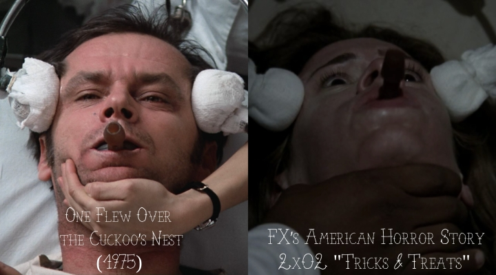 """One Flew Over the Cuckoo's Nest (1975) v. FX's American Horror Story """"Asylum"""""""