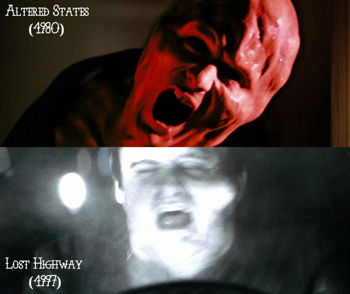 Altered States (1980) v. Lost Highway (1997)