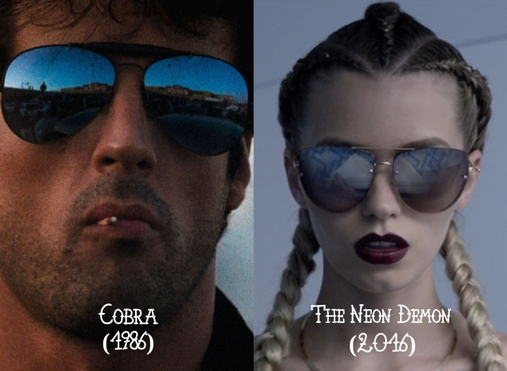 Cobra (1986) v. The Neon Demon (2016)