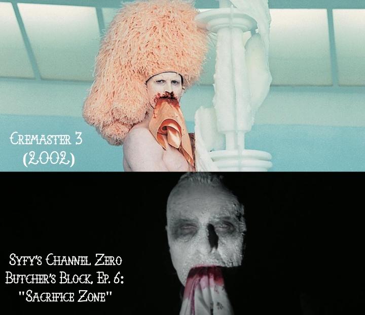 Cremaster 3 (2002) v. Channel Zero: Butcher's Block