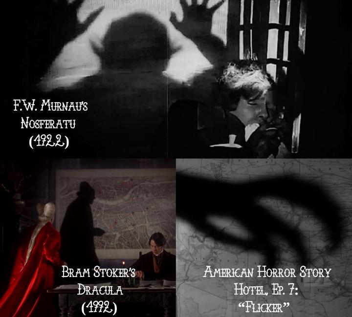 "Nosferatu (1922) v. Dracula (1992) v. American Horror Story ""Hotel"""