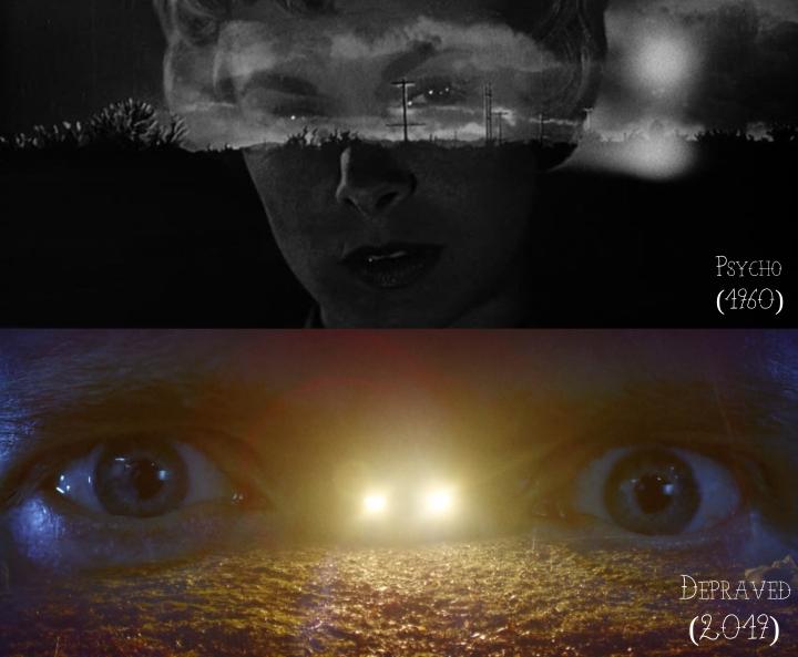 Psycho (1960) v. Depraved (2019)