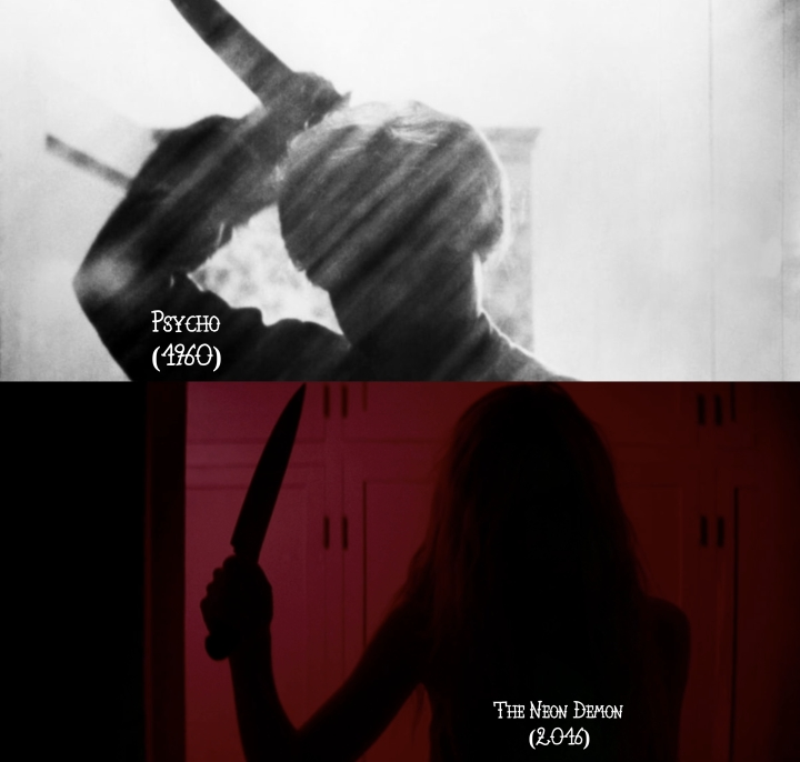 Psycho (1960) v. The Neon Demon (2016)