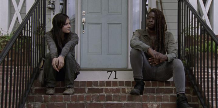 "The Walking Dead 9x14 ""Scars"" - Cassady McClincy & Danai Gurira"