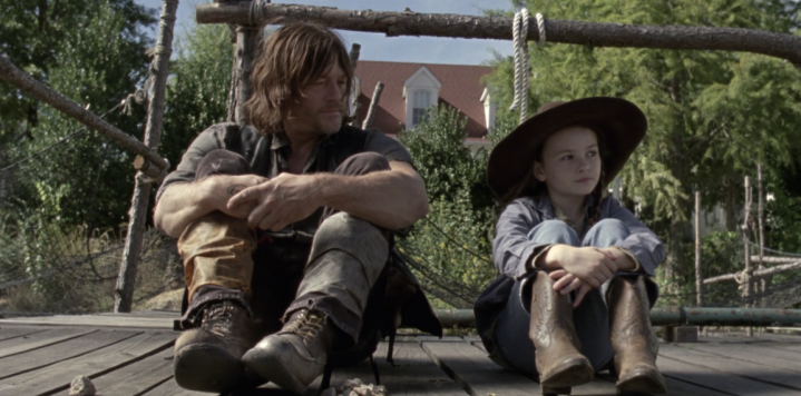 """The Walking Dead 9x14 """"Scars"""" - Norman Reedus & Cailey Fleming"""