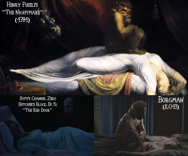 Henry Fuseli's The Nightmare (1781) v. Channel Zero: Butcher's Block v. Borgman (2013)