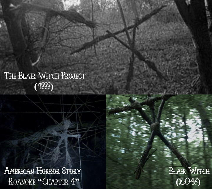 "The Blair Witch Project (1999) v. American Horror Story ""Roanoke"" v. Blair Witch (2016)"