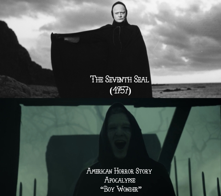 "The Seventh Seal (1957) v. American Horror Story ""Apocalypse"""