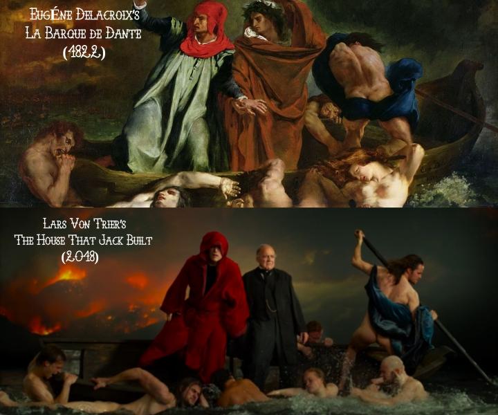 Delacroix's La Barque de Dante (1822) v. Lars von Trier's The House That Jack Built (2018)