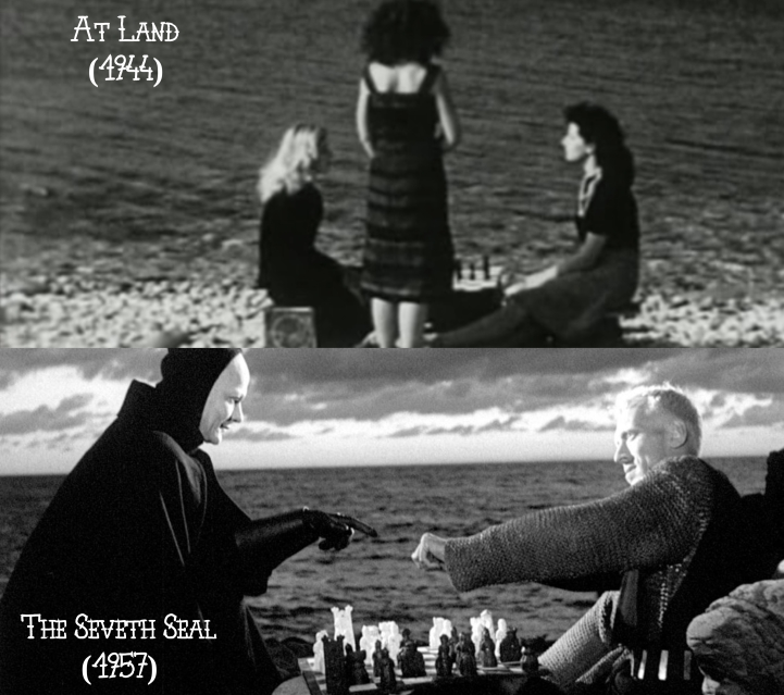 At Land (1944 short film) v. The Seventh Seal (1957)