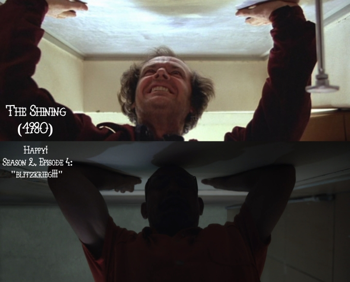 "The Shining (1980) v. Happy! 2x04 ""Blitzkrieg!!!"""