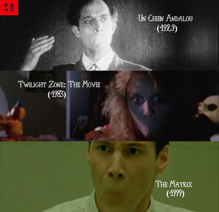 Father Son Holy Gore: Un Chien Andalou-The Twilight Zone-The Matrix SIDExSIDE