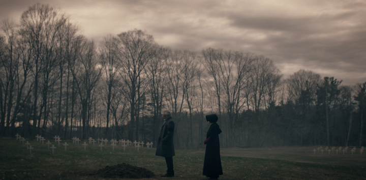 Father Son Holy Gore - The Handmaid's Tale - Commander Lawrence and June at Eleanor's Grave
