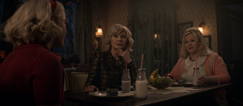 Father Son Holy Gore - Chilling Adventures of Sabrina - Caroline Rhea and Beth Broderick as Hilda and Zelda Spellman