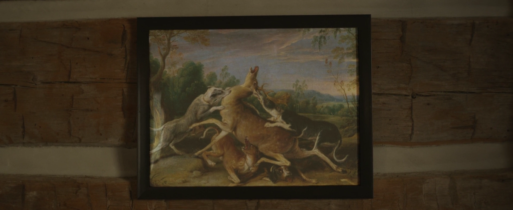 Father Son Holy Gore - The Retreat - Wolves Painting
