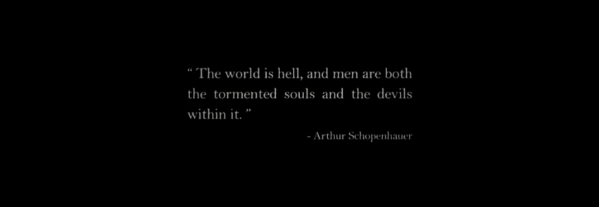 Father Son Holy Gore - The North Water - Schopenhauer Quote